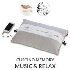 Coppia Cuscini Memory Con Federa In Cotone42x72