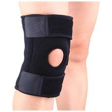 Protezione Ginocchio 14 Magneti Magnetico 056 Fascia Regolabile Sport Sostegno Knee Supporto Elastica Velcro Neoprene Grigio