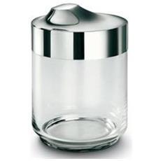 Barattolo In Vetro Soffiato Cl 75 Con Coperchio In Acciaio Inox Lucidato A Specchio - 6818