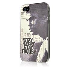 Cover Muhammad Ali con logo Stay Hungry Stay Foolish per iPhone 4 e 4s