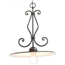 Lampadario in ferro battuto con attacco E27 lampada 1x100W