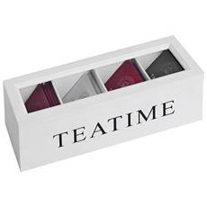 Tea Time Teabag Box (taglia Unica) (bianco)