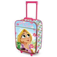5115813733 KARACTERMANIA - Rapunzel Listen-soft 3d Trolley Suitcase Valigia Per  Bambini, 52 Cm, 23 Liters, Verde (green)
