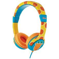 Spila Kids cuffie pensate per i bambini, con limitazione volume integrata - giraffe