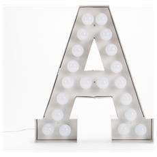 Lampada Lettera A in Metallo con Lampadine LED Altezza 60cm - Linea Vegaz
