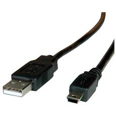 """11.02.8708, 2.0, Mini-USB B, USB A, 0,8 mm (0.0315"""")"""