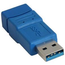 USB 3.0, USB 3.0 A, USB 3.0 B, Maschio / femmina, Blu