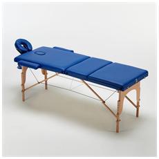 Lettino estetista zona 2 massaggio richiudibile in una valigetta colore blu