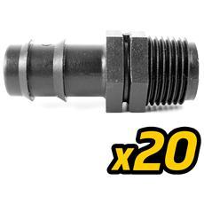 20 Pz - Raccordo - D. 32 X 1.1/4? - Manicotto Portagomma Tubo Acqua Irrigazione