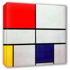 Quadro Su Tela Il Meglio Dell'arte Misura 80x80 Cm Composition With Red - Mondrian