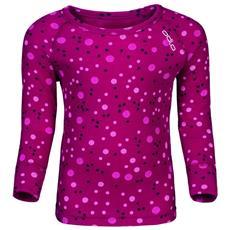Magliette Odlo Shirt L / s Crew Neck Warm Trend Small Abbigliamento Ragazzi
