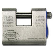 Lucchetto per Serranda Corazzato Corbin PL201 KA Misura 91 mm Mis. Int. 36x18 mm