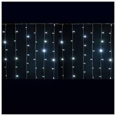 Tenda Luminosa Decorazione Natale 180 Led Luci Natalizie 2 Metri Luce Fredda