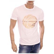 T-shirt Train Graphic M Bianco