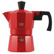Caffettiera Alluminio Caldo Caffè Rosso Tazze 1 Caffettiere E Ricambi