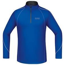 T-shirt Uomo Essential Zip Shirt Long S Blu