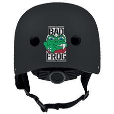 Caschetto Skate Bad Frog L Nero