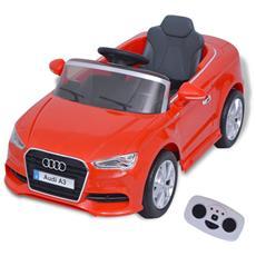 Automobile Elettrica Con Telecomando Audi A3 Rossa