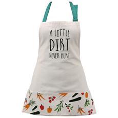 Vegetable Patch Little Dirt Never Hurt Grembiule Da Giardinaggio (61 X 54) (bianco)