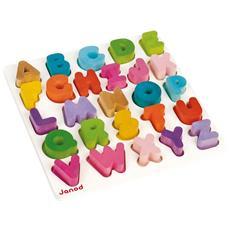 Puzzle in Legno Alfabeto Multicolore