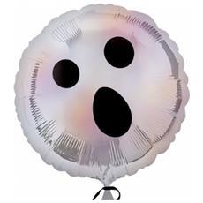 Palloncino Mylar Olografico Halloween Fantasma 45 Cm *11404