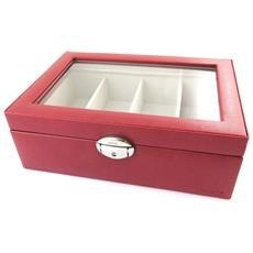 occhiali in scatola 'maestro' rosso (4 bicchieri) - [ n4496]