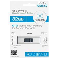USB 3.0, 32GB 32GB USB 3.0 (3.1 Gen 1) Tipo-A Nero, Argento unità flash USB