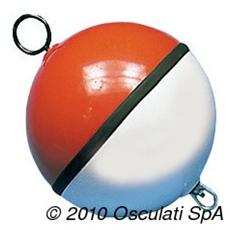Boa sfera bianca / rossa piena 700 mm