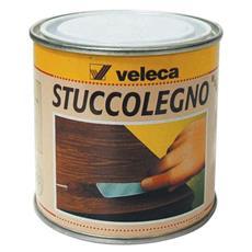 Stucco in Pasta per Legno Veleca colore Noce Scuro 250 gr