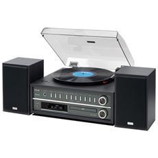 Giradischi MCD800 Lettore CD Radio FM Ingresso USB colore Nero