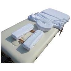 Set coprilettini con elastico per lettino massaggi zona 2 zona 3 zona 4
