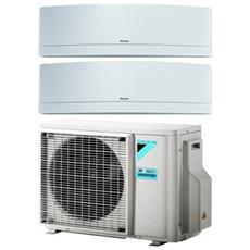 Condizionatore Fisso Dualsplit 2MXM50M / FTXJ20+25MW Emura Potenza 7000+9000 BTU / H Classe A+++ / A++ Inverter e Wi-Fi