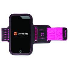 Fascia da braccio per iPhone 6 / Galaxy S5 - Nero / rosa