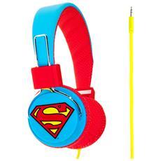 IC-MCDC0292 - Cuffia Superman Man of Steel per Bambini, anni 8+
