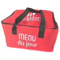 borsa termica 'coloriage' rosso (menu) - 258x248x185 cm - [ n5143]