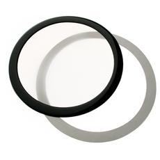 Round Dust Filter 140mm - Nero / Bianco