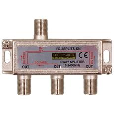 Splitter Satellitare 10.5 dB / 5-2400 MHz - 3 Outputs