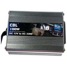 100 W Inverter Invertitore 12V A 220V Per Auto Camper Barca Accendisigari E Morsetti Presa Universale