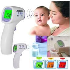 Termometro Senza Contatto Digitale Infrarossi Istantaneo Misura Temperatura Febbre Adulti Bambini Lcd Indicativo