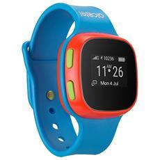 Orologio GPS per bambini MoveTime, consente la localizzazione, di effettuare e ricevere telefonate e messaggi vocali Colore blu RICONDIZIONATO