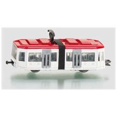 Tram Bianco e Rossa 5 x 3 x 3 cm 4006874010110