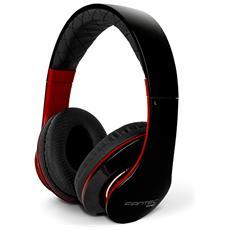 Cuffie con Microfono senza Filo SHP-3 Colore Nero Rosso