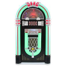 Jukebox Anni 50 Con Vinile Cd Usb Bluetooth Sd / mmc Memory Card Radio Fm E Aux