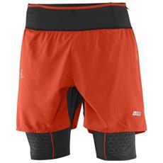 Pantaloncino Twinskin Uomo S-lab Exo L Rosso Nero