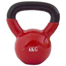 Peso Palestra Kettlebell Neoprene Rosso Tonificazione Cardio Muscolare Casa 6kg
