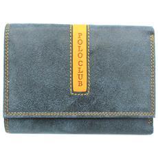 488057ff0da5b HARVEY MILLER - Portafoglio Donna In Pelle Modello Con Portamonete 8181-195  Blu