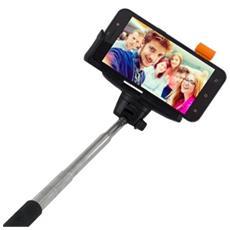 """Asta Telescopica da Selfie per Smartphone Fino a 5"""" Nero Metallico"""