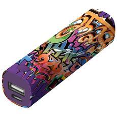 Tag Powerstick Caricatore portatile 2600 mAh - Graffiti Text