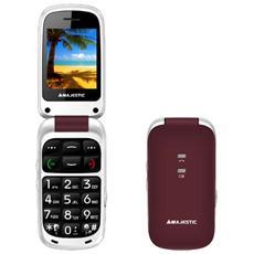 "Sileno 41 Bordeaux Display 2.4"" +Slot MicroSD SOS Radio FM Bluetooth Fotocamera"