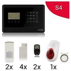 Antifurto Allarme Casa Kit Wireless Senza Fili Controllabile Da Cellulare Con App Gratuita. Menù Con Sintesi Vocale In Italiano